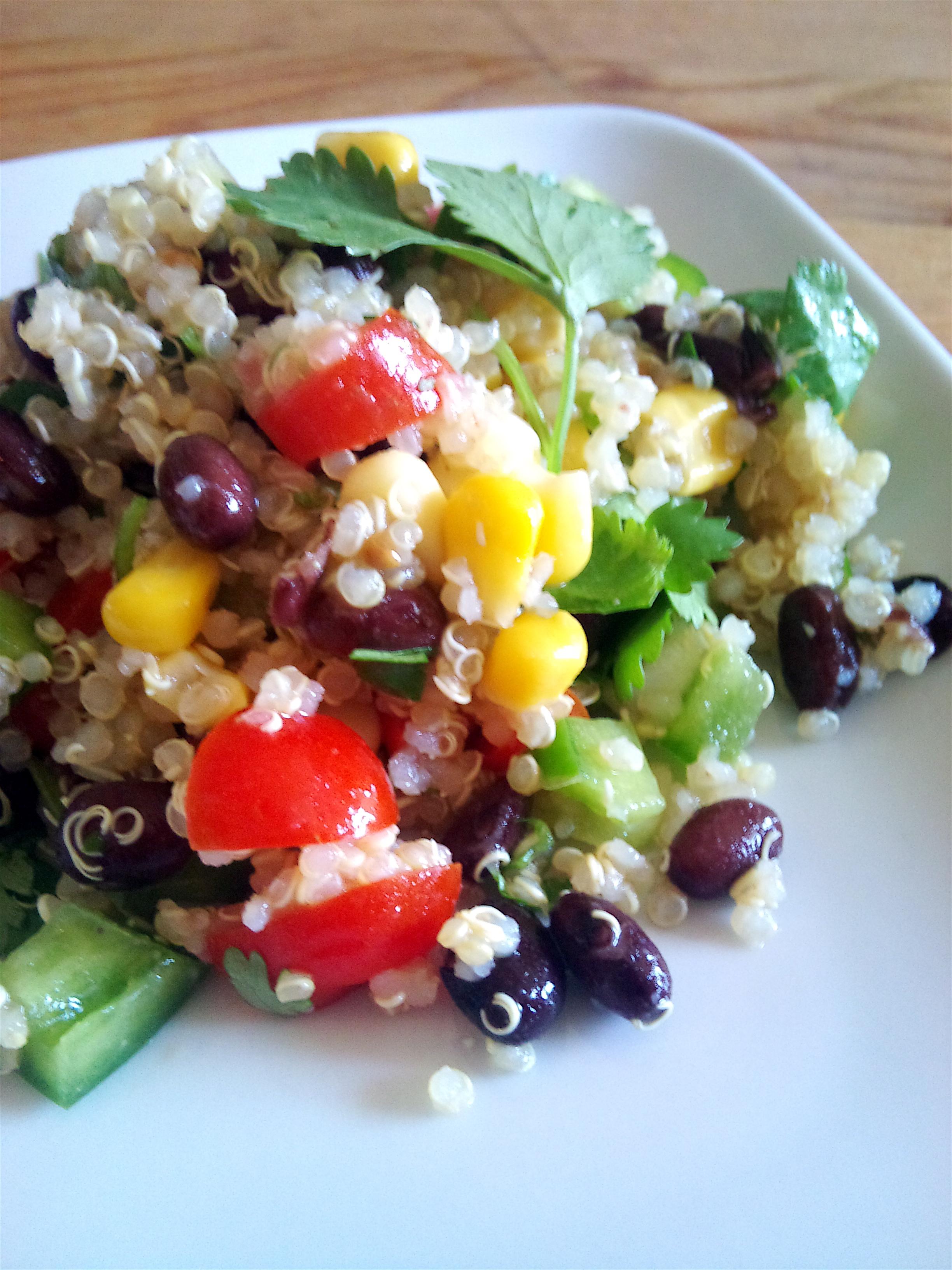 Red Quinoa And Black Bean Vegetable Salad Recipes — Dishmaps