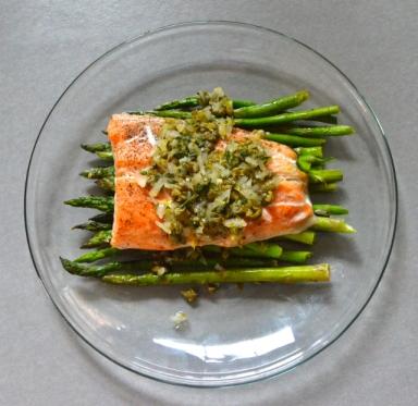 roasted salmon with asparagus